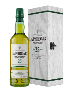 25 Year Old cask strength 2020 edition box bottle laphroaig