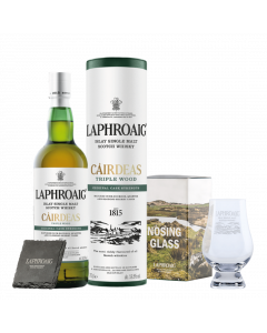 Laphroaig Cairdeas Triple Wood Stay at home kit