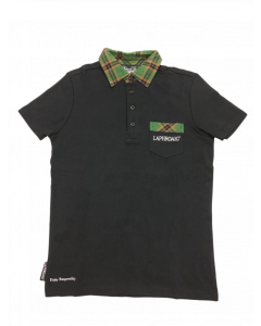 Laphroaig Men's Polo with Tartan Collar